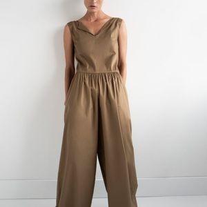 Zara Wide Poplin Jumpsuit - Size S